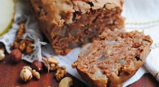 Шоколадный торт с орехами и апельсином