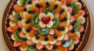 Как приготовить фруктовую пиццу