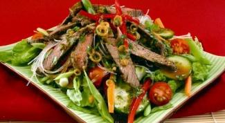 Как сделать салат с вареной говядиной