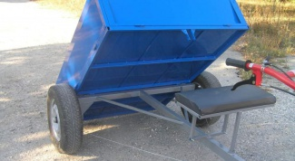 How to choose a trailer for motoblock