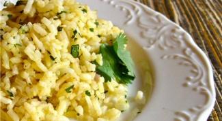 Как приготовить рис с лимоном и мятой