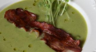Как приготовить испанский суп из зелёного горошка