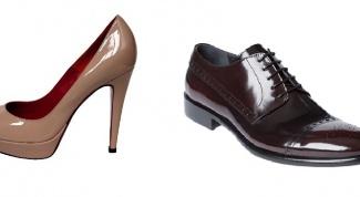 Правильный уход за лакированной обувью