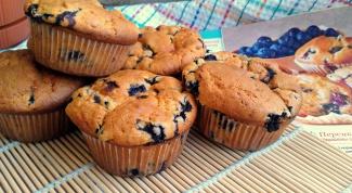 Как приготовить булочки с черникой