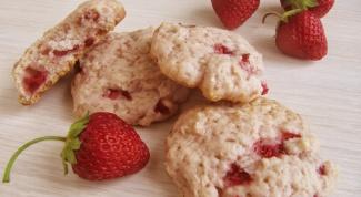 Как приготовить клубничное печенье