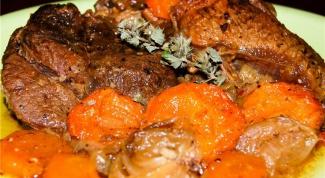 Как приготовить оссобуко с гарниром из абрикосов