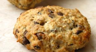 Мягкое овсяное печенье с шоколадом