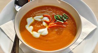 Пикантный морковный суп с чечевицей