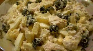 Как приготовить вкусный салат с курицей и ананасами
