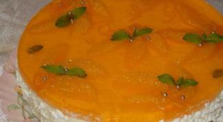 Творожно-апельсиновый торт без выпечки