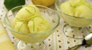 Готовим лимонный сорбет