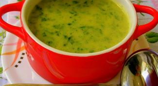 Куриный суп-пюре со шпинатом
