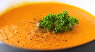 Морковный суп с укропом