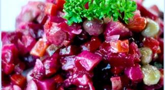 Как приготовить винегрет с солеными грибами
