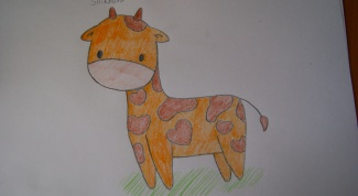 Как нарисовать милого жирафа