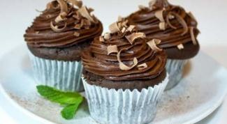 Шоколадные кексики с шоколадной помадкой