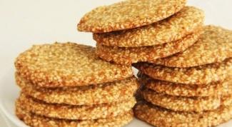 Как приготовить кунжутное печенье