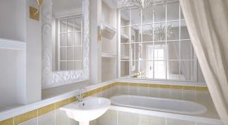 Как зрительно увеличить ванную