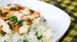 Как приготовить рис с морепродуктами
