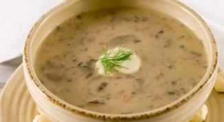 Как приготовить бархатный грибной суп