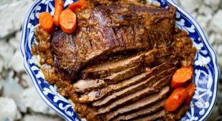 Как вкусно приготовить говяжью грудинку