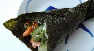 Суши-ролл с семгой