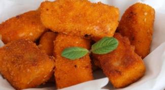 Пикантные сырные наггетсы