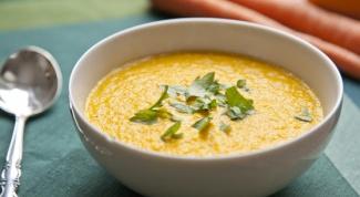Как приготовить морковно-тыквенный суп-пюре
