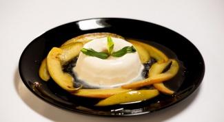 Как приготовить панна-котту с манго фламбе