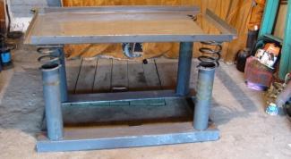 Как сделать вибростол для плитки