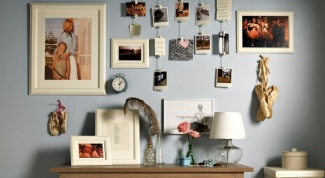 Как оформить фотографии на стене