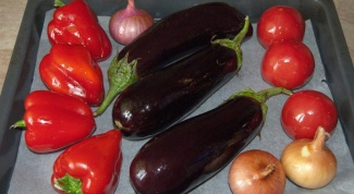 How to roast eggplant and peppers in the oven