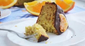 Как испечь апельсиновый пирог в шоколадной глазури
