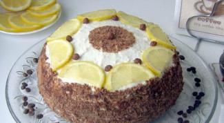 """Творожный торт """"Кофе с лимоном"""""""