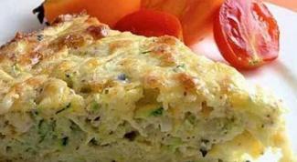 Запеканка из кабачков с плавленым сыром