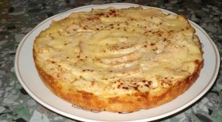 Йогуртовый пирог с яблоками