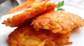 Морковные оладьи с козьим сыром