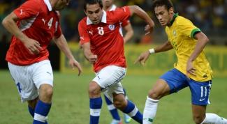 Первый матч 1/8 ЧМ 2014 по футболу: Бразилия - Чили