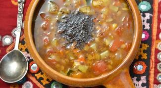 Суп самбар с чечевицей