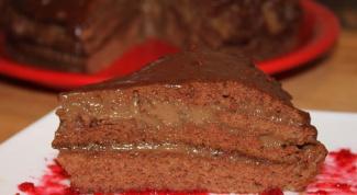 Шоколадный торт с кофейным кремом и ромом