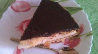 Торт-суфле с прослойкой из апельсинового джема