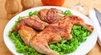 Цыпленок табака - простой рецепт