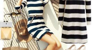 Платья в полоску: кому и с чем носить