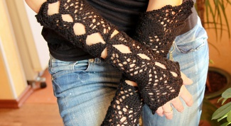 Изящное кружево: перчатки без пальцев
