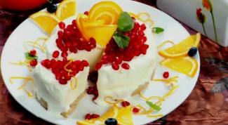 Торт-мороженое с творожно-апельсиновым кремом