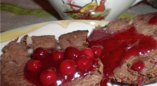 Как приготовить баранину с красносмородиновым соусом