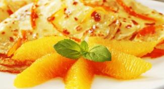 Блинчатый пирог со сметаной и апельсинами