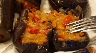 Баклажаны, начиненные овощами