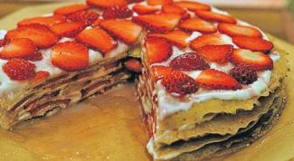 Как приготовить торт из блинов