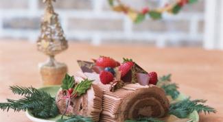 Бисквитно-кремовый торт-рулет